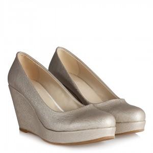Dolgu Topuk Ayakkabı Dore  Lavazi