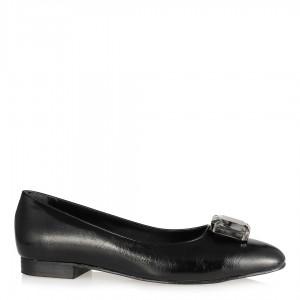 Siyah Tokalı Babet Taşlı Model