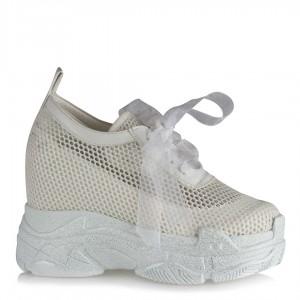 Spor Gelin Ayakkabı Gizli Ökçeli Fileli