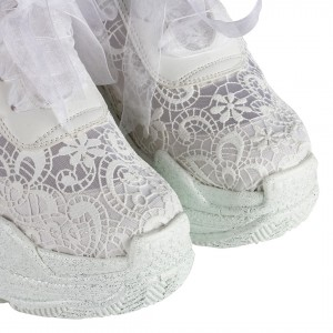 Gelin Ayakkabısı Dantelli Spor Gizli Ökçeli Fileli