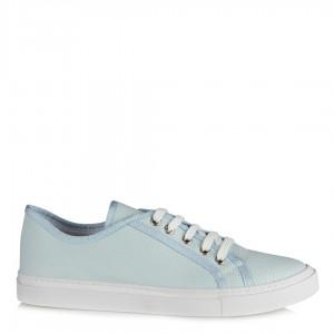 Spor Ayakkabı Bağcıklı Düz Model Bebe Mavi