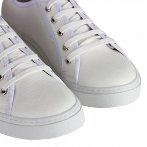Düz Model Spor Ayakkabı Beyaz Bağcıklı
