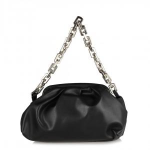 Siyah Kadın Volümlü Pilili Çanta