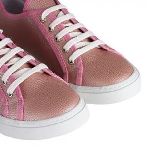 Düz Model Spor Ayakkabı Pudra Pembe Rengi