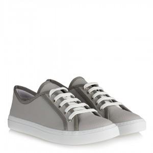 Gri Spor Ayakkabı Düz Model