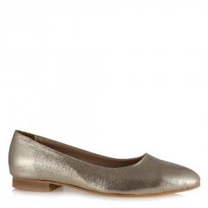 Dore Yaldızlı Babet Ayakkabı Köşeli Babet