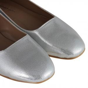 Babet Ayakkabı Lame Yaldızlı Köşeli Babet