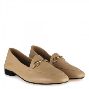 Loafer Ayakkabı Hakiki Deri Zincirli Leblebi