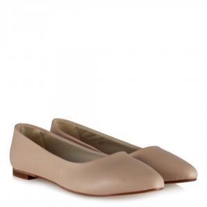 Babet Ayakkabı Sivri Model Ten Rengi