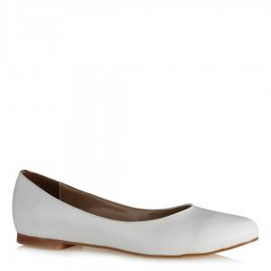Babet Ayakkabı Beyaz Mat
