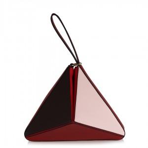 Clutch Tasarım Çanta Kırmızı Tonlar