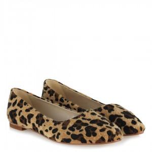 Leopar Babet Ayakkabı Sivri Model
