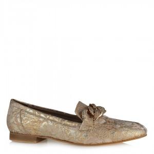 Loafer Babet Ten Dore Altın Zincirli