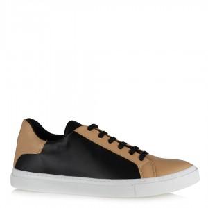 Siyah Taba Spor Ayakkabı Bağcıklı