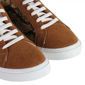 Sneakers Kahve Yılan Desenli Spor Ayakkabı