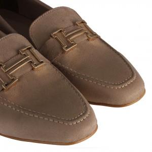 Loafer Ayakkabı Vizon H Tokalı
