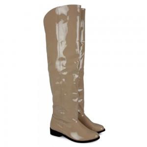 Krem Rugan Dizüstü Binici Kadın Çizme