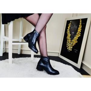 Topuklu Bayan Bot Siyah Renk
