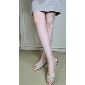 Çapraz Sandalet Ten Deri Süet Uyumlu