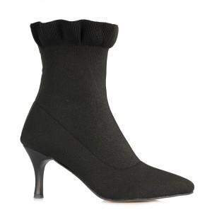 Çorap Bot Siyah Sivri Burun