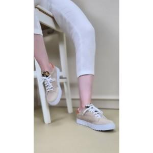 Vizon Rengi Bağcıklı Spor Ayakkabı