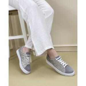 Lame Simli Bağcıklı Spor Ayakkabı