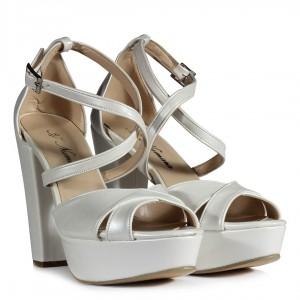 Platform Gelin Ayakkabısı  Kırık Beyaz