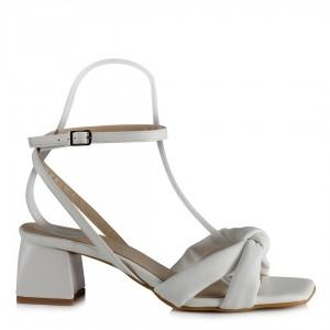 Beyaz Gelinlik Sandalet Kemerli