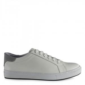 Spor Ayakkabı Beyaz Hakiki Deri