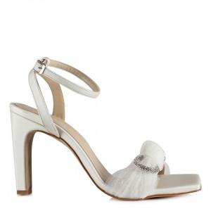 Nikah Ayakkabısı Bilekli Tokalı Saten Deri