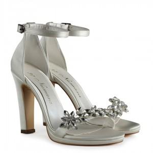 Sedef  Saten Taşlı Nikah Ayakkabısı