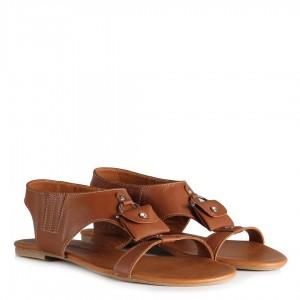 Sandalet Taba Hakiki Deri
