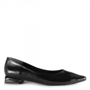 Babet Ayakkabı Siyah Kırışık