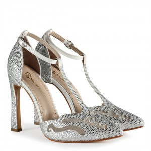 Gelin Ayakkabısı Taşlı Stiletto