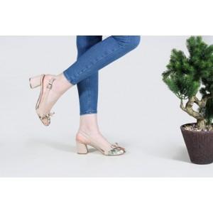 Topuklu Ayakkabı Vizon Arkası Açık