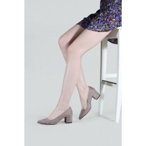 Stiletto Ayakkabı Bayan Vizon Süet