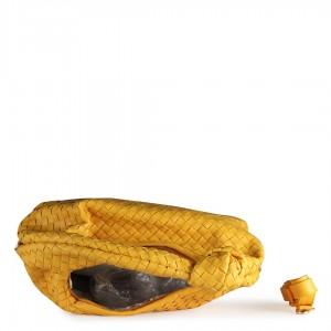 Sarı Kol Çantası Hasır Desenli