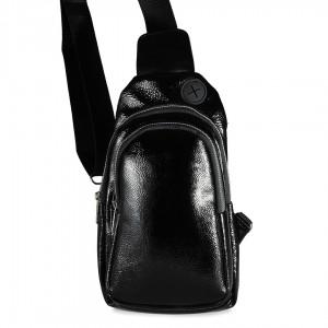 Çapraz Omuz Askılı Çanta Siyah Rugan