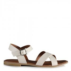 Çapraz Sandalet Bej Rengi