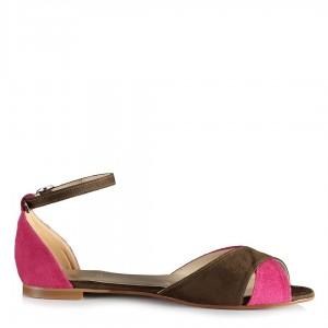 Renkli Kemerli Çapraz Sandalet