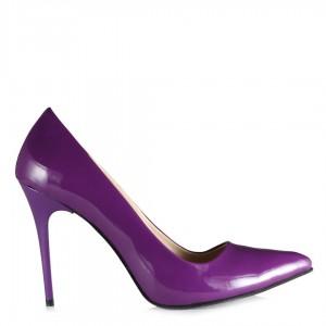 Stiletto Mor Renk Yüksek Topuklu