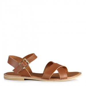 Çapraz Sandalet Taba Rengi