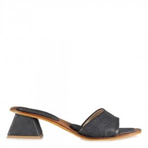 Topuklu Terlik Siyah Renk