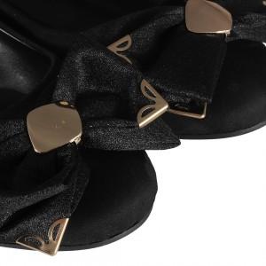 Fiyonklu Babet Ayakkabı Siyah
