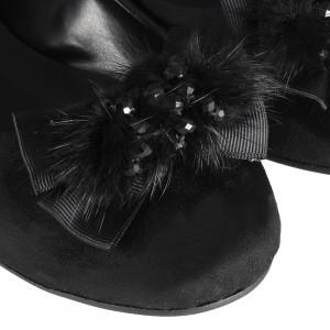 Babet Ayakkabı Siyah Tokalı