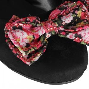 Babet Ayakkabı Renkli Çiçek