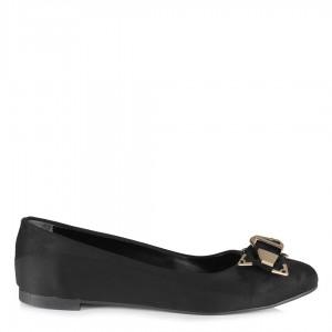 Babet Ayakkabı Siyah  Kemer Tokalı