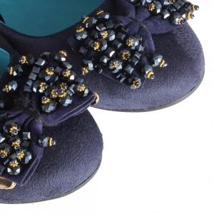 Babet Ayakkabı Lacivert Tokalı