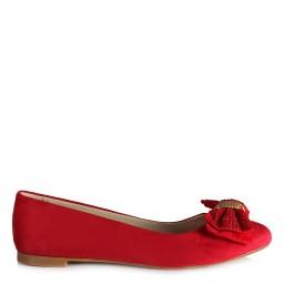 Babet Ayakkabı Kırmızı Tokalı