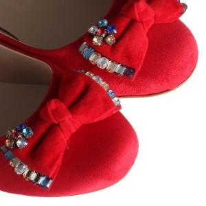 Tokalı Babet Kırmızı Renk